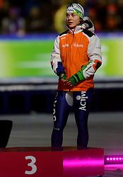 09-03-2013 SCHAATSEN: FINAL ISU WORLD CUP: HEERENVEEN<br /> NED, Speedskating Final World Cup Thialf Heerenveen / Laurine van Riessen pakt de bronzen medaille op de 1000 meter<br /> ©2013-FotoHoogendoorn.nl