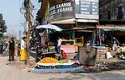 Selling fruit on the street in Jorhat, Assam, India.