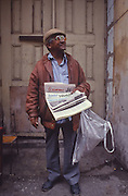 Havana, Cuba photo of man on the street selling the famous Gramma newspaper, named after the boat that Castro landed in to start the Cuban revolution