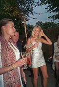 PRISCILLA DE LORENZO; FERRUCCIO DE LORENZO; FRANKIE JOHN, Serpentine Summer party 2012 sponsored by Leon Max. Pavilion designed by Herzog & de Meuron and Ai Weiwei. Kensington Gardens. London. 26 June 2012.