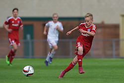 NEWPORT, WALES - Wednesday, August 3, 2016: South Wales Academy Boys' Aaron Evans Harriott  during the Welsh Football Trust Cymru Cup 2016 at Newport Stadium. (Pic by Ian Cook/Propaganda)