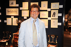 SIR TIM ACKROYD at an auction and priavte view of paintings, drawings, stories and doodles by well known personalities held at Christie's, St.James's, London on 20th September 2010.