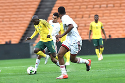 South Africa: Johannesburg: Bafana Bafana player Aubrey Modiba battles for the ball with Seychelles players during the Africa Cup Of Nations qualifiers at FNB stadium, Gauteng.<br />Picture: Itumeleng English/African News Agency (ANA)