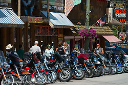 Main Street in Keystone during the 75th Annual Sturgis Black Hills Motorcycle Rally.  SD, USA.  August 8, 2015.  Photography ©2015 Michael Lichter.
