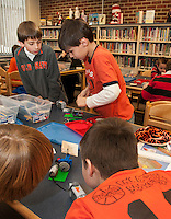 """After school program by Angela Stafford brings """"Let Go Your Mind"""" to children at Elm Street School in Laconia February 19, 2013.  Karen Bobotas/for the Laconia Daily Sun"""