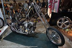 Custom 1977 Harley-Davidson Shovelhead at the Annual Mooneyes Yokohama Hot Rod and Custom Show. Japan. Sunday, December 7, 2014. Photograph ©2014 Michael Lichter.