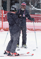 EXCLUSIVE: Nick Offerman hit the the ski slopes in Park City, Utah taking a break from the Sundance Film festival. The Parks and Recreation actor who famously plays Ron Swanson, wore a patriotic stars and stripes winter hat with tassels dangling down!. 23 Jan 2017 Pictured: Nick Offerman. Photo credit: Atlantic Images / MEGA TheMegaAgency.com +1 888 505 6342