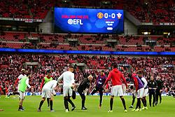 Manchester United players warm up - Mandatory by-line: Matt McNulty/JMP - 26/02/2017 - FOOTBALL - Wembley Stadium - London, England - Manchester United v Southampton - EFL Cup Final