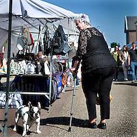 Nederland, Stein. 15 mei 2015.<br /> In Oud-Stein vindt de jaarlijkse Meimarkt plaats. De marktkramen en promotiestands zijn te vinden in de Valderstraat – Kruisstraat (gedeeltelijk) – Wilhelminaplein en Havenstraat. Daarnaast zijn er ook allerlei kinderactiviteiten.<br /> <br /> <br /> <br /> <br /> Foto: Jean-Pierre Jans