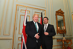 April 4, 2017 - London, London, United Kingdom - Image ©Licensed to i-Images Picture Agency. 04/04/2017. London, United Kingdom. Boris Johnson Meets German Foreign Minister. The British Foreign Secretary Boris Johnson meets with German Foreign Minister, Sigmar Gabriel in central London. Picture by Andrew Parsons / i-Images (Credit Image: © Andrew Parsons/i-Images via ZUMA Press)