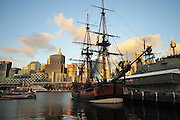 Australia, New South Wales, Sydney Harbour Replica of HMS Bounty