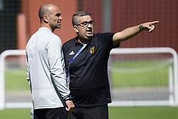 June 15, 2018 - Moscou, Russie - Roberto Martinez head coach of Belgian Team and Mousa El Habchi ass. video analyst of Belgian Team (Credit Image: © Panoramic via ZUMA Press)