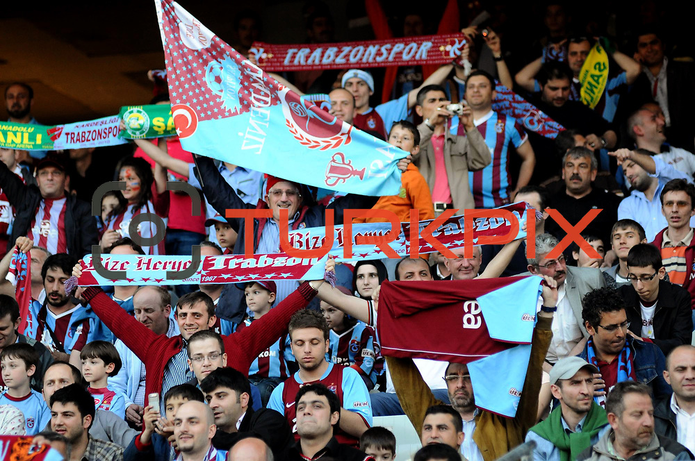 Trabzonspor's supporters during their Turkish superleague soccer match Trabzonspor between Denizlispor at the Avni Aker Stadium in Trabzon Turkey on Monday, 10 May 2010. Photo by TURKPIX
