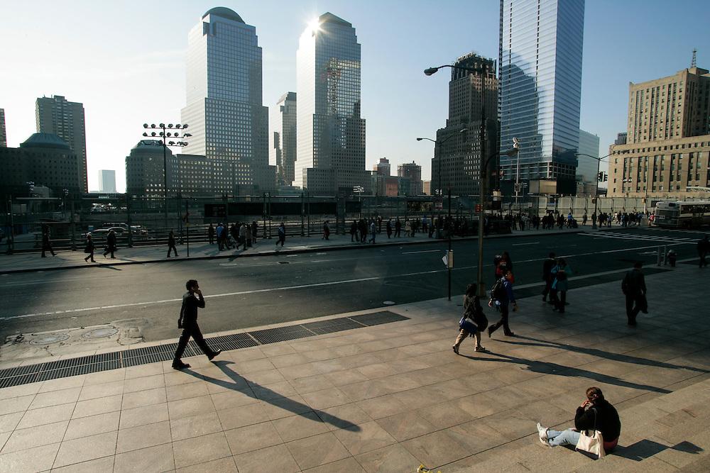 Ground zero area in New York.