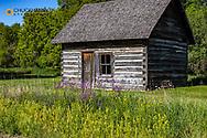 Historic Wadeson Homestead Cabin near Kathryn, North Dakota, USA