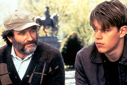 Dec 05, 1997; Austin, TX, USA; ROBIN WILLIAMS and MATT DAMON  star as Sean Maguire and Will Hunting in the award winning drama 'Good Will Hunting' directed by Gus Van Sant.  (Credit Image: © Courtesy of Miramax Films/Entertainment Pictures/ZUMAPRESS.com)