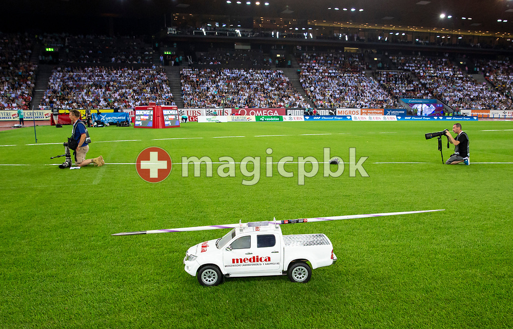 Medica car during the Iaaf Diamond League meeting (Weltklasse Zuerich) at the Letzigrund Stadium in Zurich, Switzerland, Thursday, Aug. 29, 2019. (Photo by Patrick B. Kraemer / MAGICPBK)