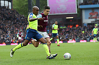 Aston Villa v Derby County - Sky Bet Championship<br /> BIRMINGHAM, ENGLAND - APRIL 28 :  derby County's Andre Wisdom and Aston Villa's Jack Grealish in a chase for the ball