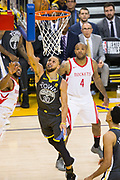 Golden State Warriors guard Stephen Curry (30) takes the ball to the basket against the Houston Rockets during Game 4 of the Western Conference Finals at Oracle Arena in Oakland, Calif., on May 22, 2018. (Stan Olszewski/Special to S.F. Examiner)