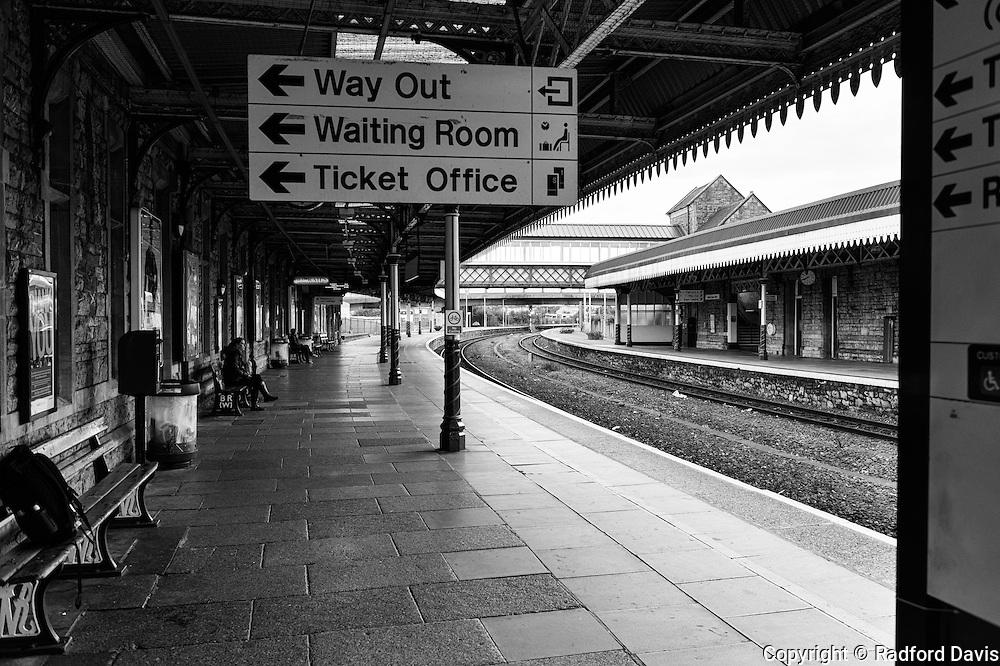 Train station at Weston-super-Mare, England