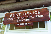 Village Post Office, Yosemite National Park, California USA