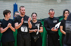 P1 students at the end. Franklyn Hartkamp takes the Institute Of Krav Maga Scotland grading today at Stirling.<br /> ©Michael Schofield.