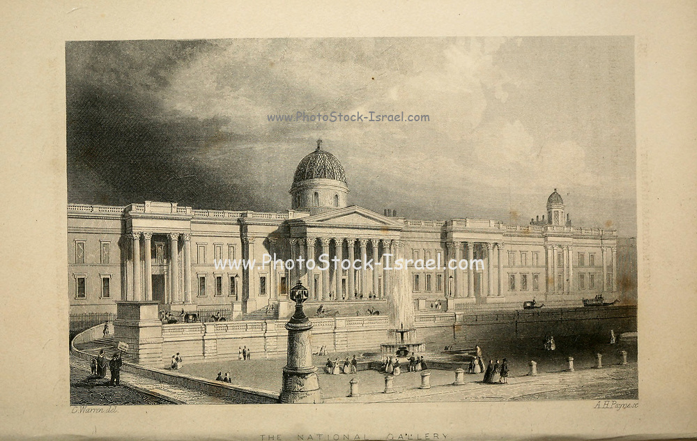 London The national Gallery From the book Illustrated London, or a series of views in the British metropolis and its vicinity, engraved by Albert Henry Payne, from original drawings. The historical, topographical and miscellanious notices by Bicknell, W. I; Payne, A. H. (Albert Henry), 1812-1902 Published in London in 1846 by E.T. Brain & Co