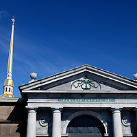 Europe, Russia, St. Petersburg. The Peter and Paul Fortress Gate.