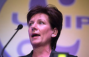 © Licensed to London News Pictures. 28/02/2015. Margate, UK. Diane James speaks at the second day of the conference.  The UKIP spring conference at Margate Winter Gardens 28th February 2015. Photo credit : Stephen Simpson/LNP