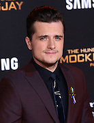 JOSH HUTCHERSON at the premiere of 'The Hunger Games: Mockingjay - Part 2' held at the Micorsoft theatre.<br /> ©Exclusivepix Media