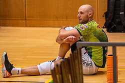 Jasper Diefenbach of Orion disappointed after the semi cupfinal between Active Living Orion vs. Amysoft Lycurgus on April 03, 2021 in Saza Topsportshall Doetinchem