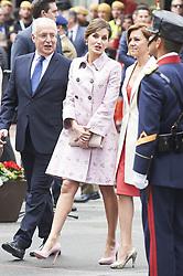 May 26, 2018 - Logrono, La Rioja, Spain - Queen Letizia of Spain, Maria Dolores de Cospedal attended the Armed Forces Day Homage on May 26, 2018 in Logrono, La Rioja, Spain (Credit Image: © Jack Abuin via ZUMA Wire)