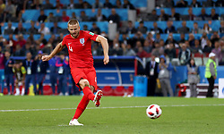 England's Eric Dier scores his sides fourth and winning penalty in the penalty shoot out during the FIFA World Cup 2018, round of 16 match at the Spartak Stadium, Moscow.