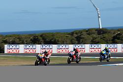 October 28, 2018 - Phillip Island, VIC, U.S. - PHILLIP ISLAND, VIC - OCTOBER 28: Ducati Team rider Alvaro Bautista (19) ahead of Ducati Team rider Andrea Dovizioso (4) at The 2018 Australian MotoGP on October 28, 2018, at The Phillip Island Circuit in Victoria, Australia. (Photo by Speed Media/Icon Sportswire) (Credit Image: © Steven Markham/Icon SMI via ZUMA Press)