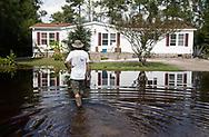 Flooded home in Bucksport, South Carolina following Hurricane Florence.