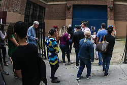 October 7, 2018 - New York, New York, United States - Voters are seen in an election section in New York in the United States this Sunday, 07. Brazilians abroad can only vote for President of the Republic. (Credit Image: © William Volcov/ZUMA Wire)