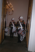 Bugles and Drums Corps Royal Marines. Connaught Square Squirrel Hunt Inaugural Hunt Ball. Banqueting House, Whitehall. 8 September 2005. ONE TIME USE ONLY - DO NOT ARCHIVE  © Copyright Photograph by Dafydd Jones 66 Stockwell Park Rd. London SW9 0DA Tel 020 7733 0108 www.dafjones.com