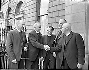 12/06/1957.06/12/1957.12 June 1957.Methodist Church Conference at St Stephens Green, Dublin..Rev. R.M. Gilliand(Tralee) (second from left) and Rev. J.F. McEvoy (Bandon) third from left at the Methodist Church Conference, St Stephens Green, Dublin.