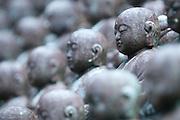 Buddhas at the Mu-Ryang-Sa Temple in Honolulu, Hawaii.