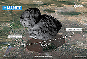 Is comet probe doomed? First picture from surface shows Philae has landed on its side in a CAVE - and without solar power it will die in 30 hours <br /> <br /> In just over 50 years of space exploration humanity has landed spacecraft on Venus, the moon, Mars, Saturn's moon, Titan, and two asteroids. Now a new object can be added to that list: a comet.<br /> But Esa scientists are concerned about the future of the Philae probe after it was revealed that the probe is likely stuck in a cave on the surface of the comet - and it may also be lying on its side.<br /> With limited access to sunlight, and only a maximum of 30 hours of charge in its battery, scientists now face a race against time to get useful data from the probe before it dies - or find a way to recharge its solar panels and keep Philae alive.<br /> <br /> 'If you look at the images we have at the moment, it looks like Philae is resting against a very irregular rock', said mission director Paolo Ferri <br /> <br /> 'There is some speculation about it being in a hole…honestly, we have no idea, because we haven't seen all the images.<br /> 'But what is more important is the attitude [angle] of the lander, and the clock is ticking for us to find this out.'<br /> In a press conference in french Esa also added: 'We are in a kind of cave, not a very flat area.' And they said that the probe has access to 90 minutes of sunlight every 12 hours - which might be enough to keep it alive. <br /> According to Philippe Gaudon, who heads the Rosetta mission at the French space agency CNES, the probe is thought to be at an angle of about 30 degrees on the surface.<br /> <br /> Philae now only has around 20-30 hours of battery life left, before it will attempt to switch to rechargeable ones replenished by sunlight.  <br /> Mr Ferri says that all of the non-mechanical instruments on Philae are now working perfectly, but scientists will not be attempting to start up any of the mechanical instruments.<br /> 'If we move something it might tip it over…once we know the attitude [angle], we will kn
