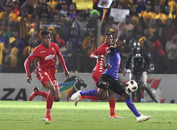 South Africa: Johannesburg: Kaizer Chiefs player  Khama Billiat and Highlands Park player Spiwe Msimango during the Premier Soccer League (PSL) at Makhulong stadium in Tembisa, Gauteng.<br />02.10.2018<br />Picture: Itumeleng English/African News Agency (ANA)