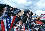 Garbage barges transported some 20,000 tons of garbage out of New York City to Fresh Kills landfill in Staten Island every day for several decades.