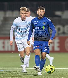 Valon Ljuti (HB Køge) under kampen i 1. Division mellem HB Køge og FC Helsingør den 4. december 2020 på Capelli Sport Stadion i Køge (Foto: Claus Birch).