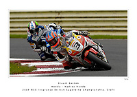 2009 British Superbike Championship.  Croft, North Yorkshire, United Kingdom. 11th-13th September 2009.  (3) - Stuart Easton (GBR) - Honda - Hydrex Honda.  World Copyright: Peter Taylor/PSP. Copy of publication required for printed pictures. Every used picture is fee-liable.