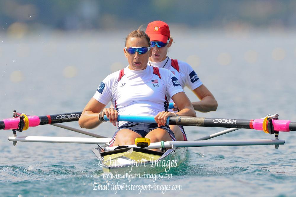 Bled, SLOVENIA. USA W2-, 2011 FISA World Rowing Championships, Lake Bled. Wednesday  31/08/2011   [Mandatory Credit; Intersport Images]