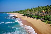 Sri Lanka, province du Sud, plage de Tangalle, vue aerienne // Sri Lanka, Southern Province, South Coast beach, Tangalle beach, aerial view