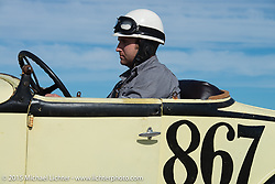 Dean Osgood in his 1931Ford Roadster at the Race of Gentlemen. Wildwood, NJ, USA. October 10, 2015.  Photography ©2015 Michael Lichter.
