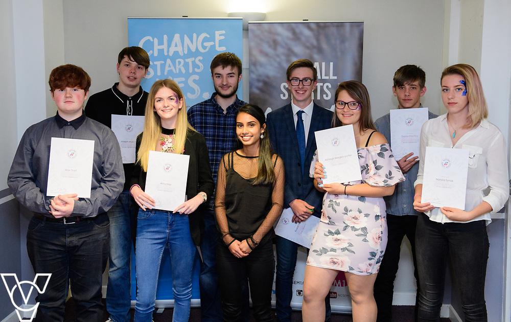 Cohort 1 - Team 4 | NCS EM1 graduation ceremony held at The Castle Theatre, Wellingborough, Northamptonshire.<br /> <br /> Picture: Chris Vaughan Photography<br /> Date: September 13, 2017