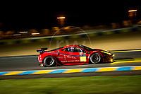 Qualifying Bill Sweedler (USA) / Townsend Bell Bell (USA) / Jeff Segal (USA) driving the LMGTE Am  Scuderia Corsa  Ferrari 458 Italia  24hr Le Mans 15th June 2016