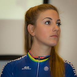 PAPENDAL (NED) wielrennen<br />Het Rabobank-Liv vrouwenteam en het Developmentteam werden op Papendal voorgesteld. Frans Kampioen Pauline Ferrand Prevot t